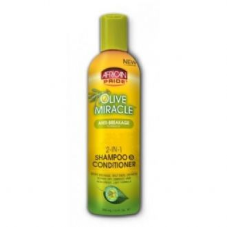 African Pride Olive Miracle 2in1 Shampoo & Conditioner 355ml